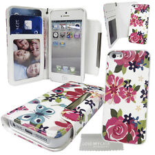 Floral Butterfly Wallet Case with Detachable Hard Case for Various Mobile Phones
