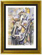 "Pablo Picasso Signed/Hand-Numbrd Ltd Ed ""Girl w Mandolin"" Litho Print (unframed)"