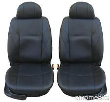 FRONT BLACK LEATHERETTE SEAT COVERS FOR OPEL VAUXHALL CORSA C D MERIVA ASTRA G H