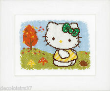 Vervaco  0148647  Hello Kitty  L'Automne  Kit  Broderie  Point de Croix  Compté