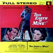THIS EARTH IS MINE - HUGO FRIEDHOFER - LP SOUNDTRACK - VARESE SARABANDE - RI