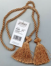 "CAMEL CHAIR  TIE 27"" CORD SPREAD 3"" TASSEL LOT OF 6 CONSO E16 HOME DECORATING"