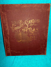 Antique Hard Back Book William H Wanamaker's Standard Atlas Of The World 1893