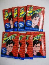 1987 Topps 21 Jump Street Unopened Wax 8 Pack Lot  Johnny Depp