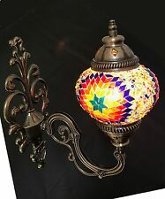 FROM UK Handmade Colourful Turkish Moroccan Style Mosaic Wall Sconce Lamp Light