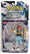 "Pokemon Diamond Pearl TRAINER ASH SATOSHI & STARLY 5"" Action Figure Jakks 2007"