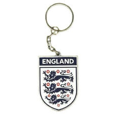 England FA International Three Lions Crest Football Car Metal Keyring Key Ring