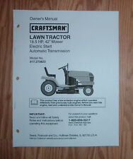 CRAFTSMAN 917.273823 LAWN TRACTOR OWNERS MANUAL WITH ILLUSTRATED PARTS LIST