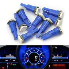 10 X T5 5050 SMD 1LED Lámpara Bombilla Luz Iluminación Azul para Tablero Coche