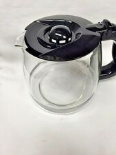 Krups SS-201616 KM740 Coffee Maker Glass Carafe & Lid Black Genuine