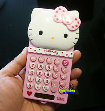 New Super Cute Hello Kitty Pocket Office Basic Electronic Digitals Calculator