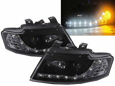 A4/S4 2002-2005 B6 CABRIOLET 8H Projector Headlight DRL R8 BLACK for AUDI LHD