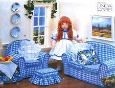 "Vogue 9504 18"" Girl Doll Living Room Sofa Furniture by Linda Carr - Uncut"