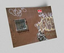 ACEO Banksy No Trespassing Indian Graffiti Street Art on Canvas Giclee Print