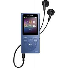 Walkman Sony NW-E394 reproductor de MP3 con radio FM, azul 8 GB