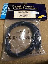 IEEE 1394 FireWire iLink DV Cable 4P 4P M/M 6FT (Black) IEEE-1394 firewire 4p/4p