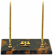 DESK ACCESSORIES - SCALES OF JUSTICE DOUBLE PEN STAND - LEGAL PROFESSION