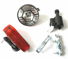DYNAMO BICYCLE LIGHT SET HEADLIGHT REAR LIGHT NO BATTERIES NEEDED CYCLE LIGHTS