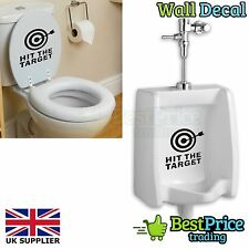 Hit The Target Novelty Toilet Urinal Vinyl Wall Decal Sticker Home Bathroom