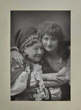 Fine 1890 Cabinet Card Portrait Photo Mary Anderson & Mrs Stirling W&D Downey