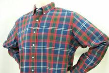 New Men's POLO RALPH LAUREN Shirt  Blue Red Plaid $89 MSRP-SMAll
