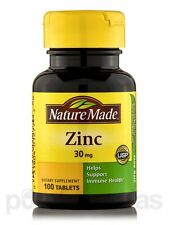 Zinc 30 mg - 100 Tablets by Nature Made