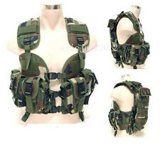 Forest camouflage US navy seal modular load swat assault tactical vest-D201