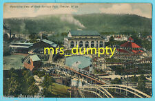 WV Chester~ROCK SPRINGS PARK~Panorama & Roller Coasters~Early POSTCARD