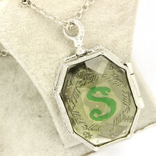 HARRY POTTER SLYTHERIN LOCKET, HORCRUX WITH VOLDEMOT'S SOUL OPENS+CHAIN