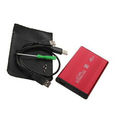 "2.5"" Inch Red Sata USB 2.0 Hard Drive HDD Enclosure External Laptop Disk Ca"