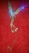 BUTLER AND WILSON VINTAGE SWAROVSKI PINK CRYSTAL LARGE FAIRY BROOCH / QVC