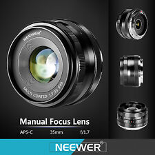 Neewer 35mm f/1.7 Manual Focus Fixed Lens for FUJIFILM APS-C Digital Camera