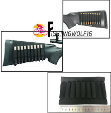 9 Rifle Bullet Holder Bandolier Butt Stock Shell Cartridge Ammo Shell Holder Bag