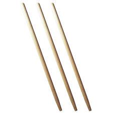 3 x Spatenstiel Grabegabel Spatengabel Stiel Holzstiel  130cm Set Ø 38