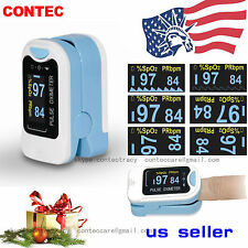 Fingertip Pulse Oximeter Oximetry Blood Oxygen Saturation Monitor,case,rope,USA