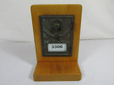 Old Vintage Post Office PO Box Bank Brass Bronze Mail Box Door Eagle Antique