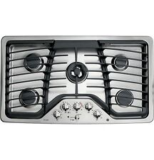 "GE Profile 36"" Wide Gas 5-Burner Stainless Steel Cooktop, Model PGP986SETSS, NEW"