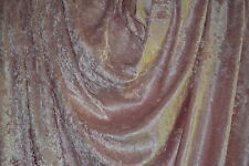 "Crushed Panne Velour Antique Rose 60"" Wide 100% Poly Fabric by the Yard"