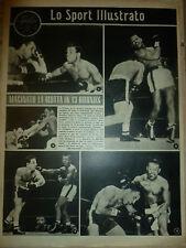 LO SPORT ILLUSTRATO N 8 1951 BOXE RAY ROBSON - JACK LA MOTTA MILAN PALERMO 9-0