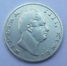 1835 East India Company British Silver 1 Rupee Coin - WILLIAM IIII - Old Rare