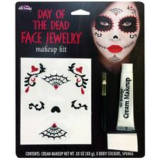 Sugar Skull Makeup Day of The Dead Dia de Los Muertos Halloween Costume