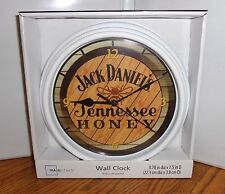 "JACK DANIEL'S WALL CLOCK # 2. 9"" DIA. TENNESSEE HONEY....FREE SHIPPING"
