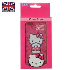 Telefono APPLE IPHONE 5 COVER Hello Kitty Personaggio dei Cartoni Animati Nuovo Rosa