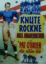 Lloyd Bacon's KNUTE ROCKNE ALL AMERICAN (1940) Pat O'Brien Ronald Reagan SEALED
