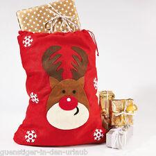 XXL Weihnachtsbeutel Tasche Rentier Geschenkbeuel Geschenktasche Weihnachten