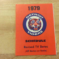 Vintage 1979 Detroit Tigers Baseball Pocket Schedule Tigers Stadium