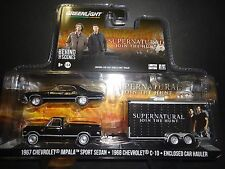 Greenlight Chevy Impala SS 1967 & C10 1968 with Car Hauler Supernatural 1/64