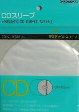 "* NAGAOKA - TS-561/3 - CD - ANTISTATIK INNENHÜLLEN - 20x- ""ANTISTATIC-SLEEVES"" *"