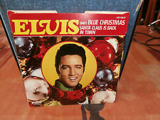 "elvis presley""blue christmas""single7""1977-rca:447.0347.usa.vinyl couleur rouge"