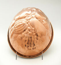 """Copper Mold German Made Kreamer Oval 8X6"""" Copper Tin/Zinc-lined Pudding Mold"""